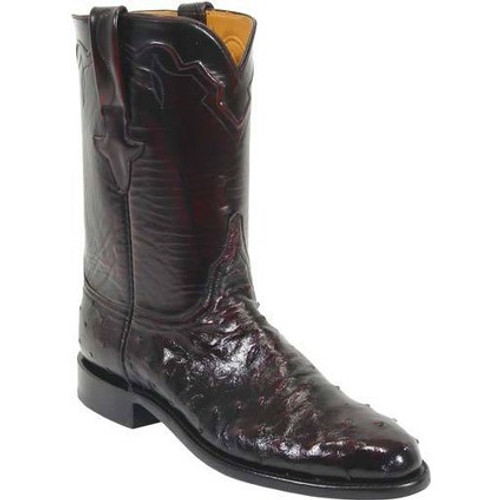 209cc00513a Lucchese Men's Boots - Classics Hand Made - Black Cherry Brush Off - FQ  Ostrich / Goat