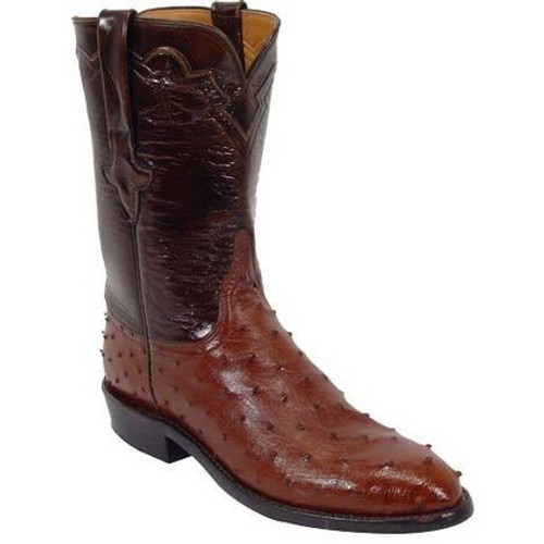 be84b85dc79 Lucchese Men's Boots - Classics Hand Made - Cigar / Brown Brush Off - FQ  Ostrich / Goat