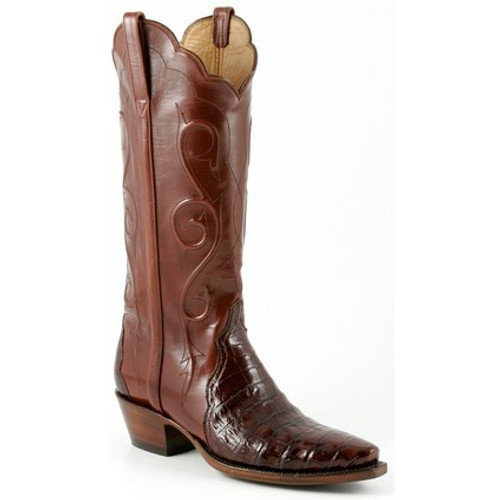 a6687d78f1a Lucchese Women's Boots - Classic Hand Made - Sienna - Ultra Crocodile Belly  / Calf