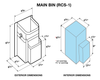 Refuse Containment System- Main Unit (RCS-1) Dimensional drawing