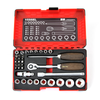"VESSEL 36-PC 3/8"" Non-Slip Ratchet Driver Set (HRW2303M-W)"