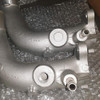 80 series 1FZ Upper Coolant Outlet- before and after modification
