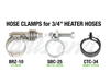 "3/4"" heater hose clamps"