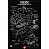 "80 Series 1FZ Head Gasket Reference Poster- 18""x27"" (Spanish Version) (REF-10SP)"