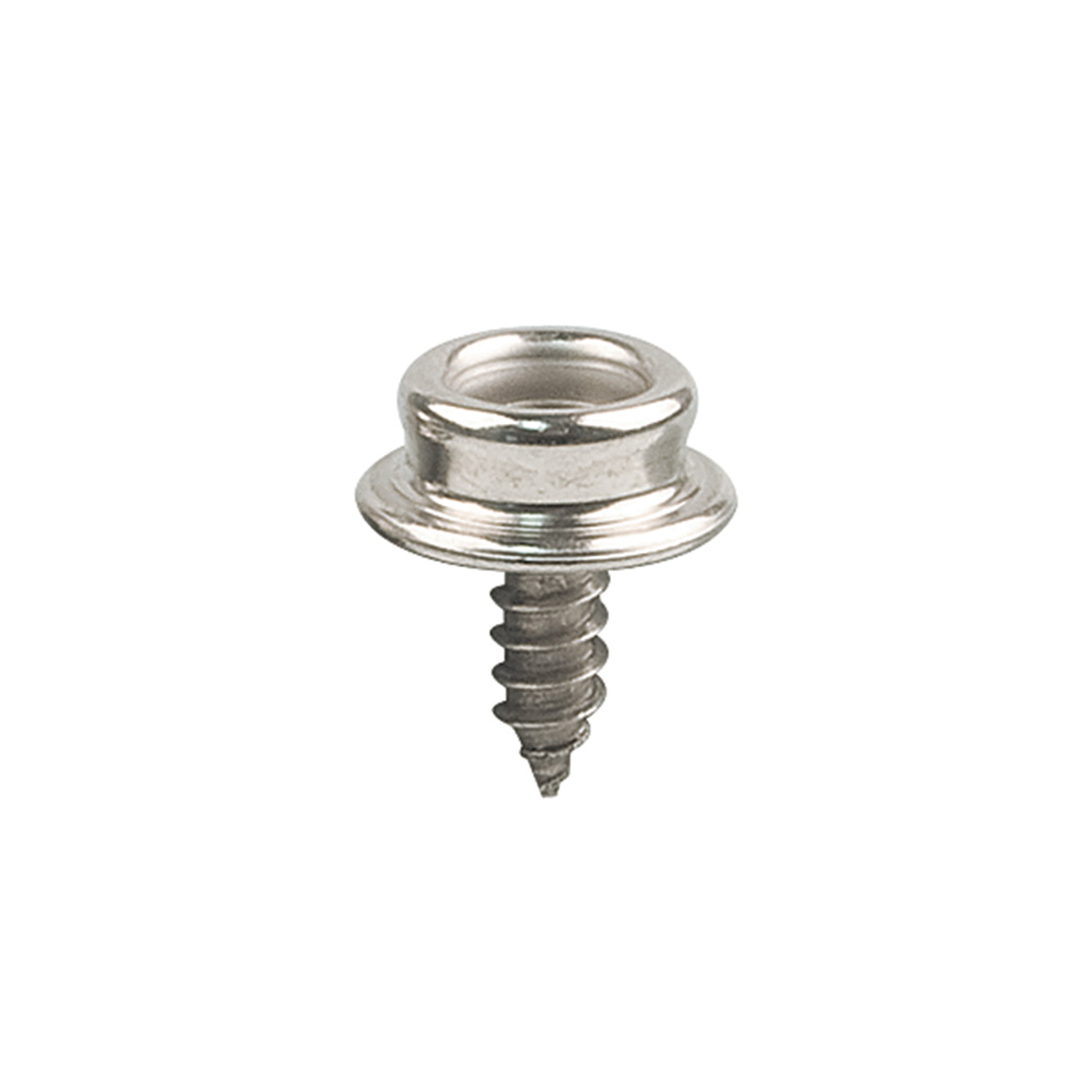"Snap Fastener Screw Stud 3/8"", Stainless Steel-4pk (SFS-SS-1)"