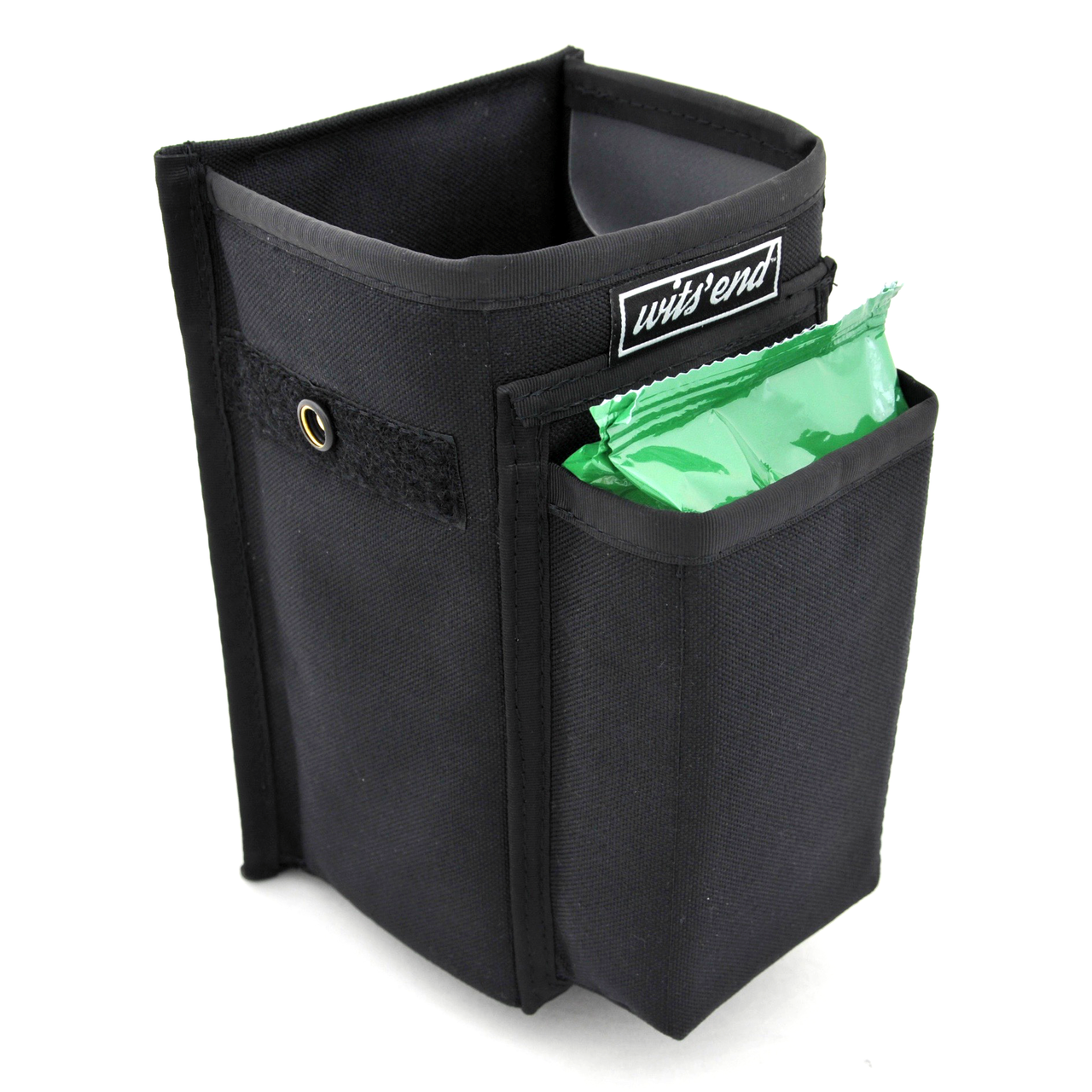 Refuse Containment System- Main Unit (RCS-1) Front pocket designed to hold a small pack of wet wipes.