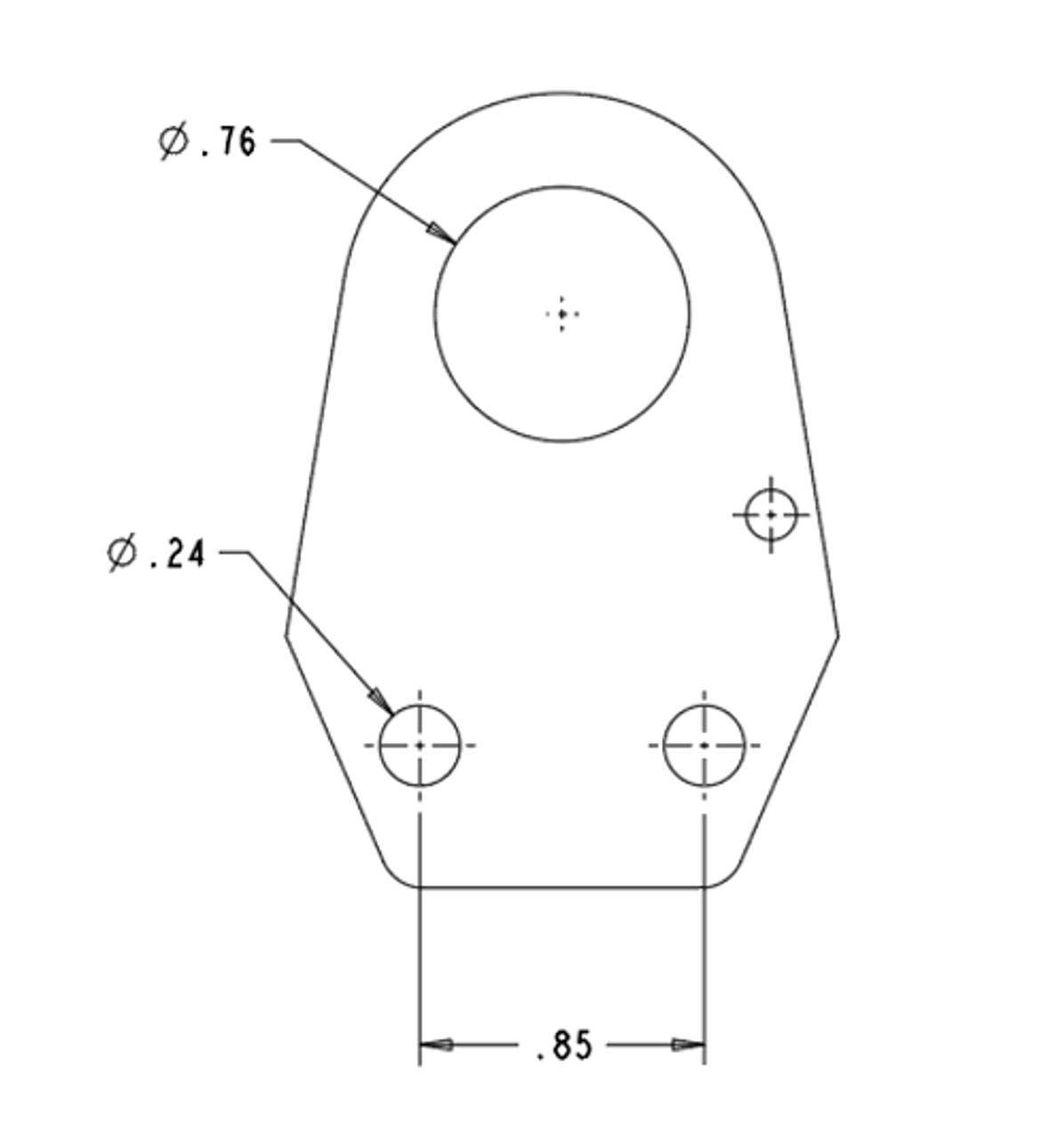 Air Coupler Bracket- flat KIT (ACB-1KIT) mounting dimensions
