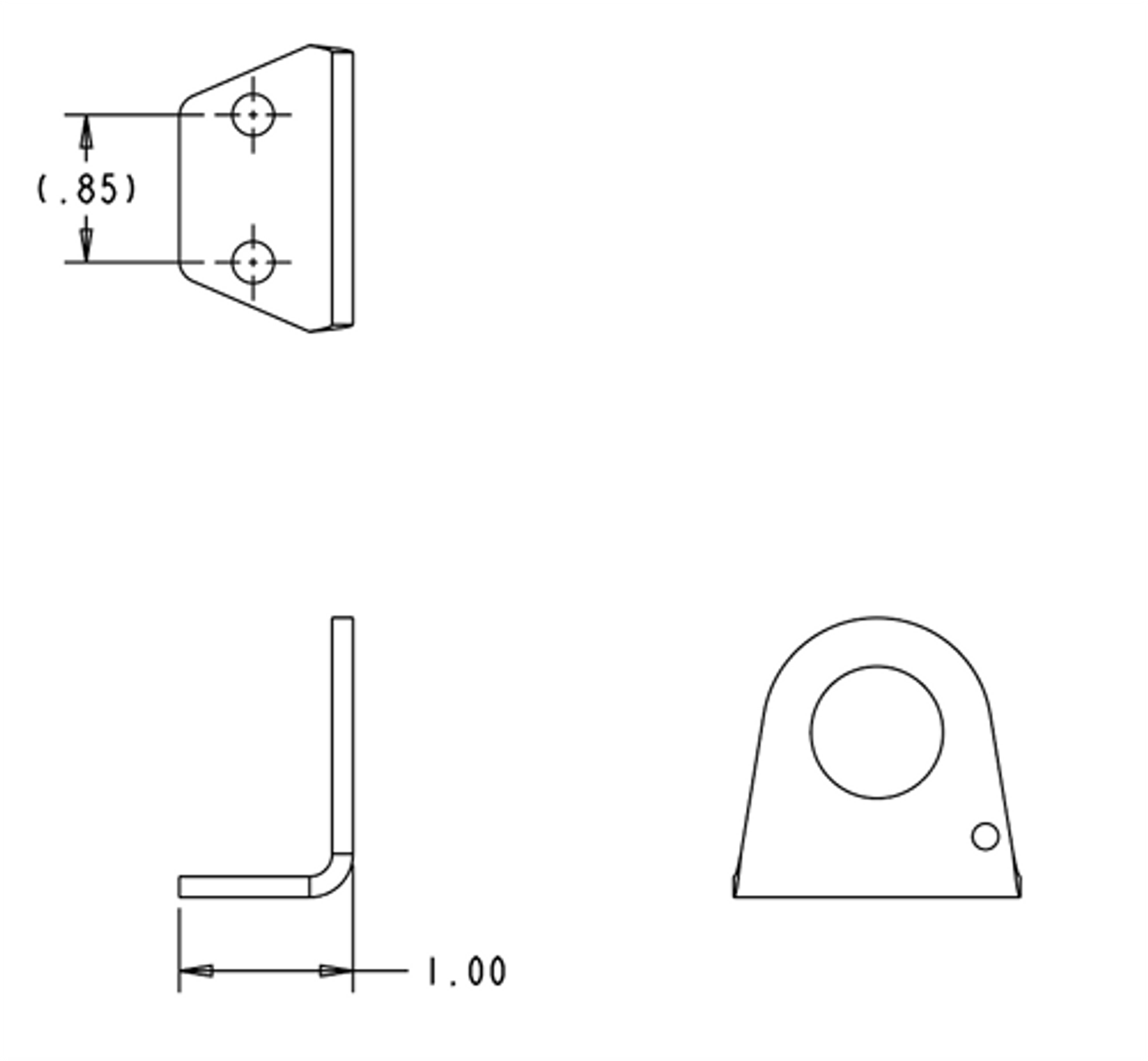 Air Coupler Bracket- Angled (ACB-2) dimensions