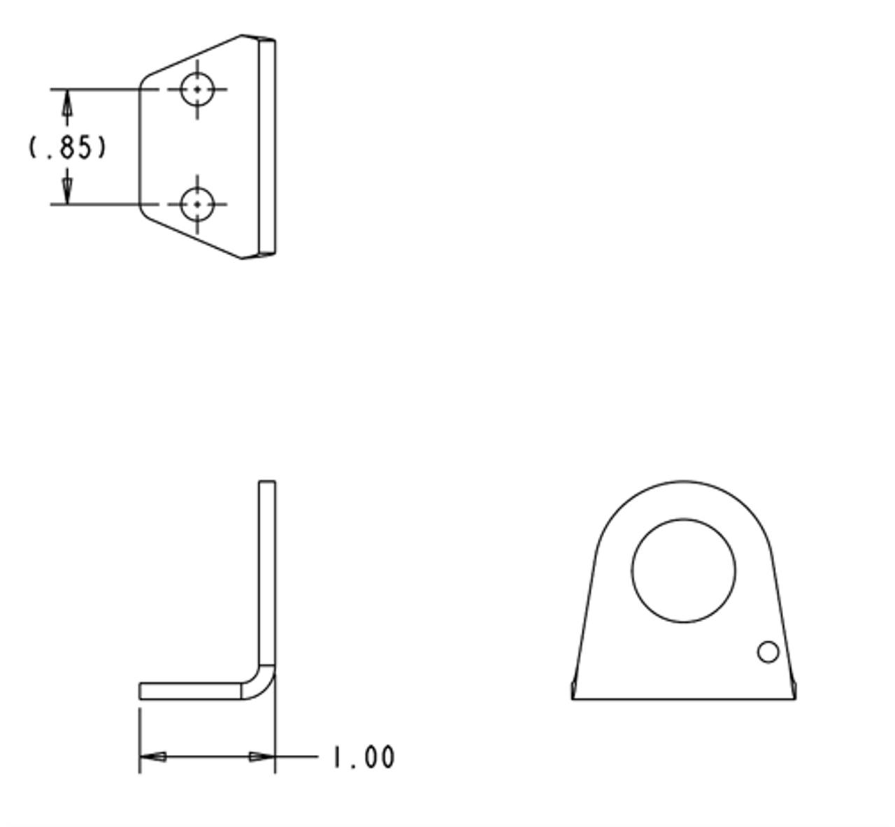 Air Coupler Bracket- flat KIT (ACB-1KIT) for On Board Air
