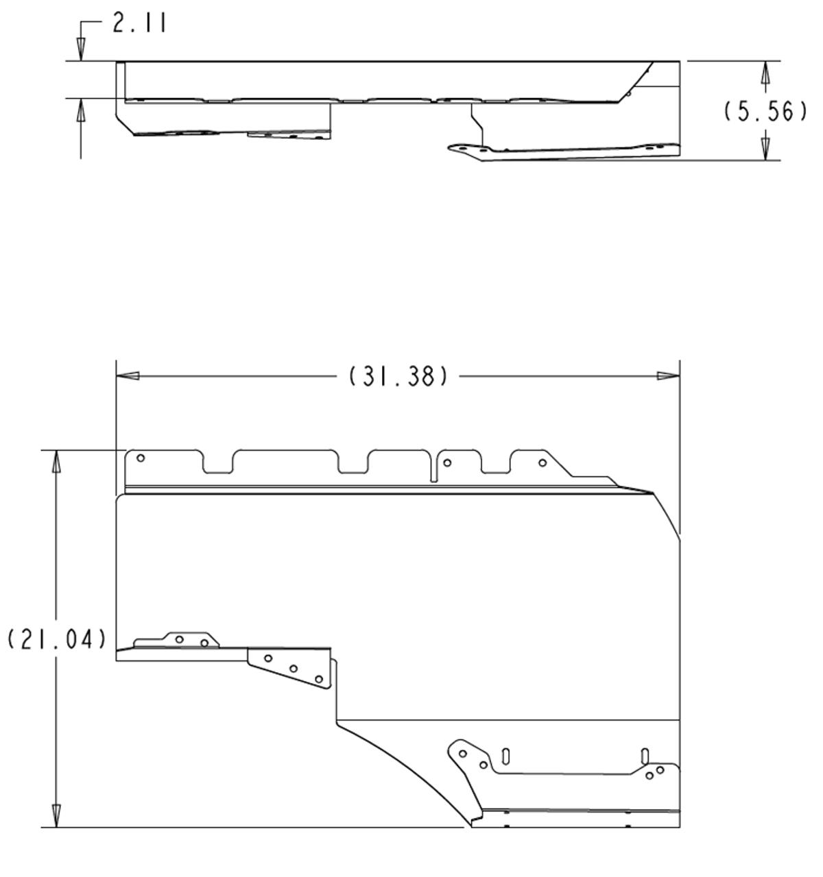 Quarter Panel Mount, 80 Series- right (QPM-1)