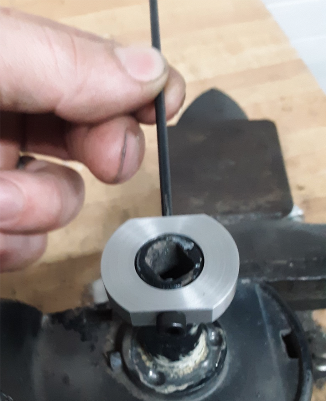 80 Series Floppy Mirror Fix (FMF-1)- Install ring with one screw and transfer punch 2nd hole