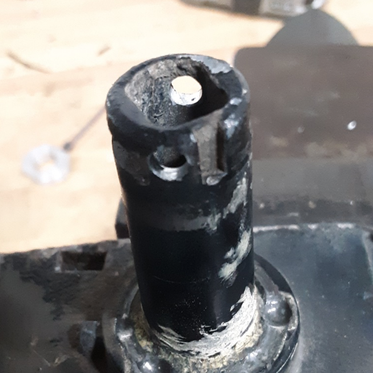80 Series Floppy Mirror Fix (FMF-1)- For the second hole, Drill 1/8 pilot hole first then #20 drill hole