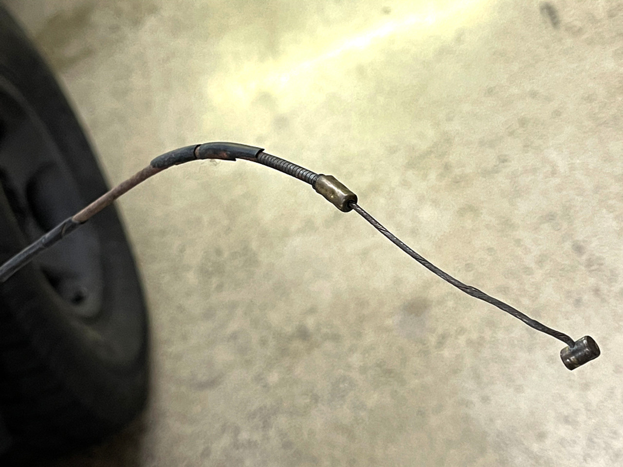 60 Series Carburetor Choke Cable Assembly (CCA-1) before its replaced