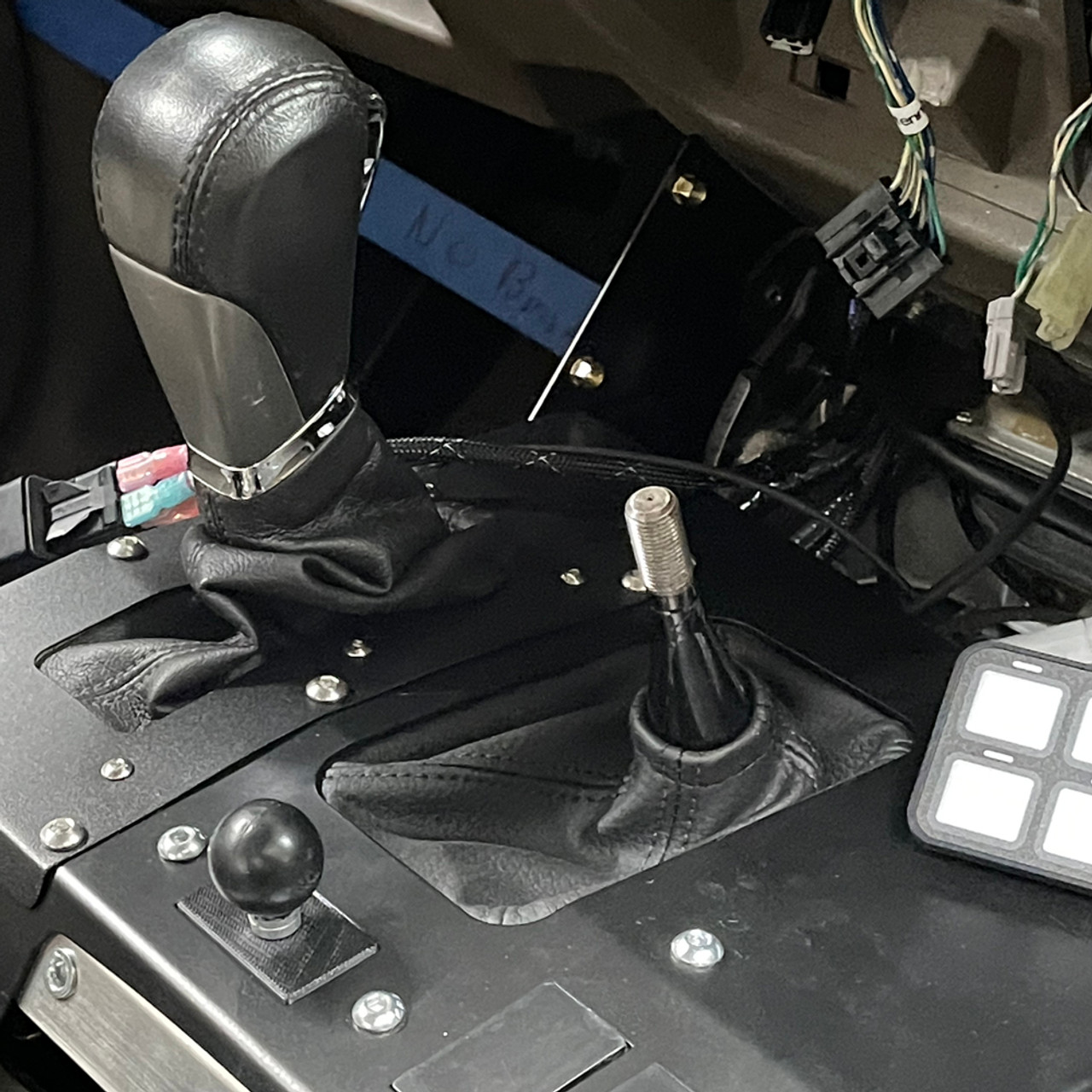 DashHole Plug- Mount, Notch-Free Face (DPM-1) Fits all 80s and 90s Toyota vehicles and Delta Console