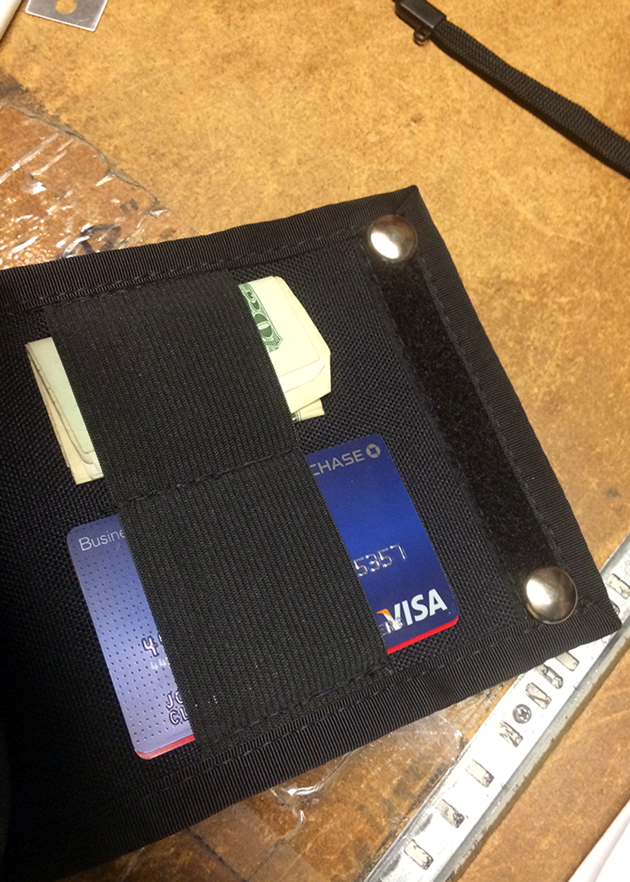 "Accessory Panel Unit (APU-1), 5"" x 7.5"" rear of the pouch (cash and card shown are not included)"