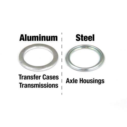 Aluminum vs Steel crush washers