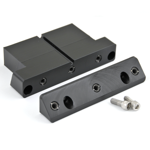80 Series Useless Cubby Insert-Angle Block 1/4-20 (UCI-2) shown with the Useless Cubby Insert