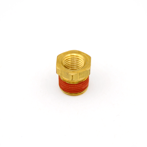 "1/4"" Male -to- 1/8"" Female NPT Reducer Bushing- Brass (RBB-14-18)"