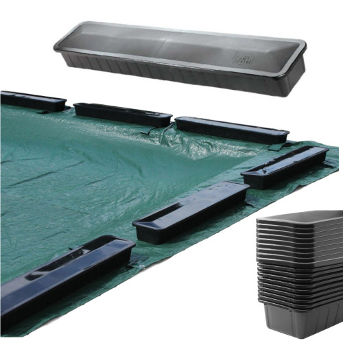 6 PK Aqua Blocks Hold Um Downs Pool Cover Weights for In Ground Swimming  Pool Covers 6 Pack Replaces Water Bags or Tubes