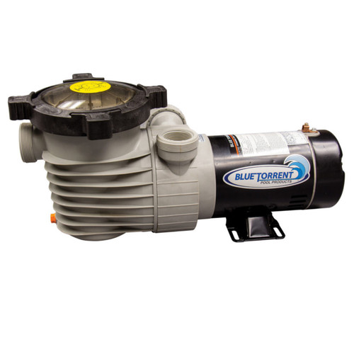 1 HP Single Speed Dual Port Flow Force Replacement Pump for Above Ground Pools With On/Off Switch