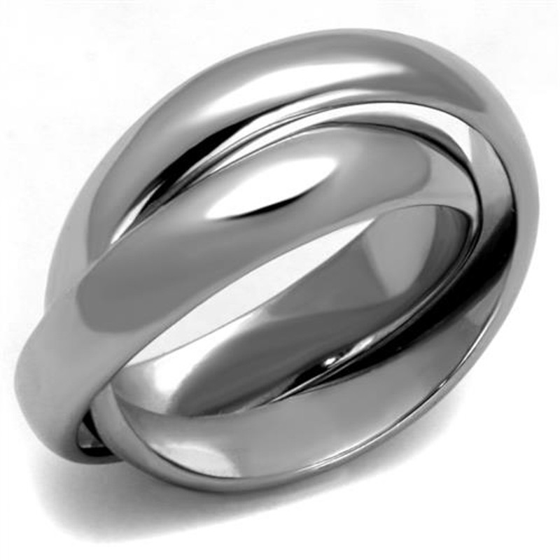 ARTK2498 Women's High Polished Stainless Steel Intertwined Fashion Ring Bands Size 5-10