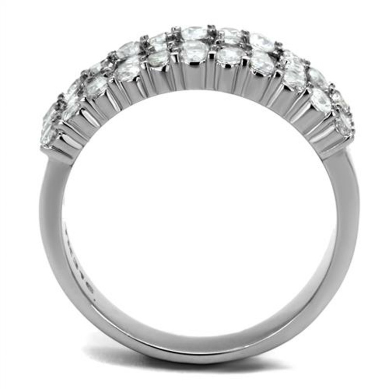 ARTK2866  Stainless Steel 1.77 Ct Cubic Zirconia Cocktail Fashion Ring Women's Size 5-10