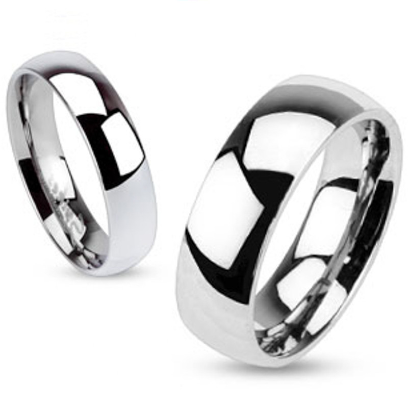 ST2476-AR001 His & Her 3pc Stainless Steel 2.45 Ct Cz Bridal Set & Men's Classic Wedding Band