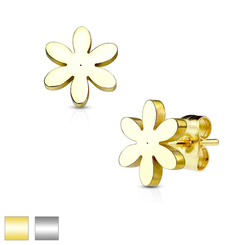 MJ-SE2426 Flower 316L Stainless Steel Earring Studs Pair