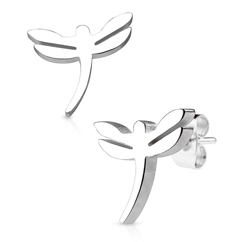 MJ-SE2456 Dragonfly 316L Stainless Steel Earring Studs Pair
