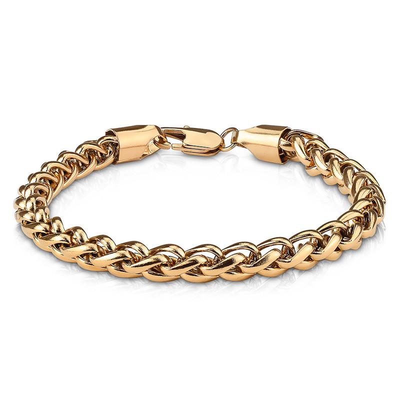 MJ-SSB-0760 Round Spiga Chain Stainless Steel Bracelets