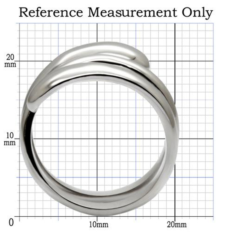 ARTK037 Stainless Steel High Polished Coil Style Women's Fashion Cocktail Ring Size 5-10
