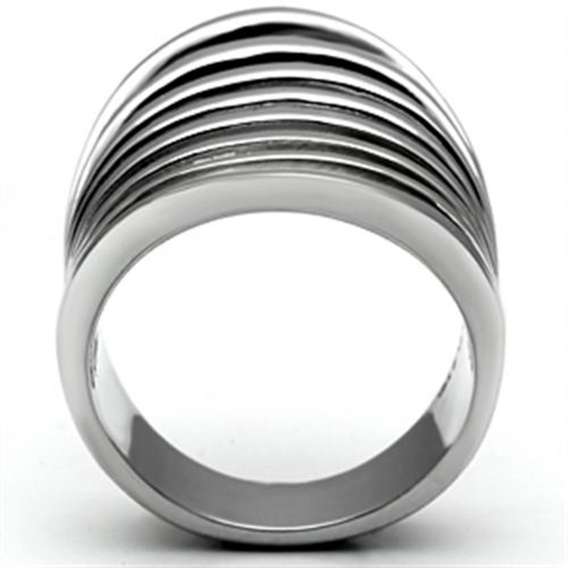 ARTK665 Stainless Steel 33mm Wide Solid High Polished Fashion Ring Women's Size 5-10