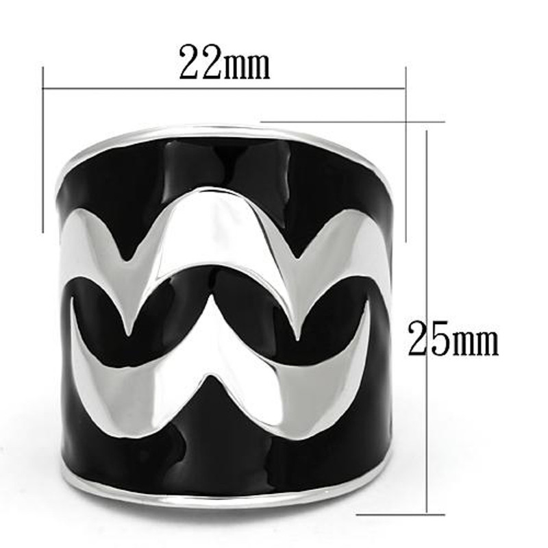 ARTK926 Stainless Steel High Polished Abstract Epoxy Design Fashion Ring Women Size 5-10