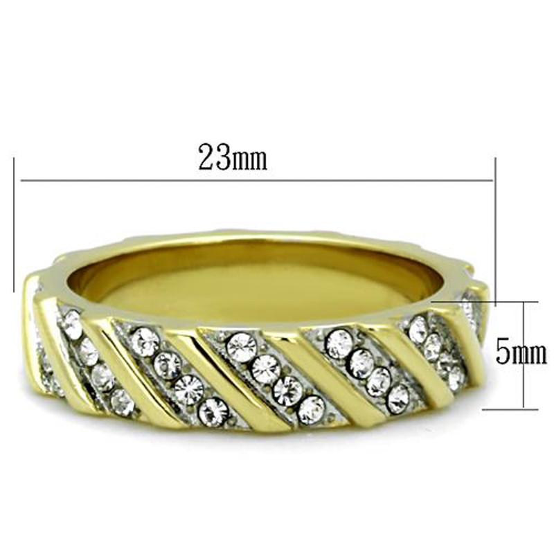 ARTK1557 Round Cut Two tone AAA CZ Eternity Anniversary Wedding Ring Band Women's Sz 5-10