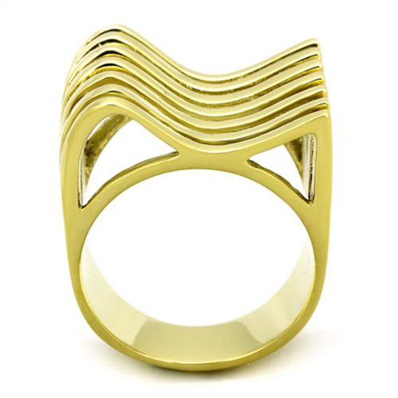 ARTK1628 Stainless Steel 316l, 14k Gold Ion Plated Fashion Ring 22mm Wide Women's Sz 5-10