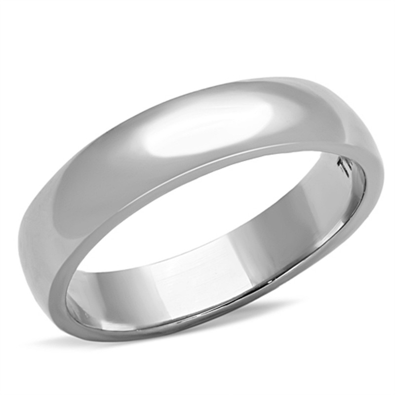 4.4mm CLASSIC STAINLESS STEEL 316, HIGH POLISHED UNISEX WEDDING BAND SIZES 5-13