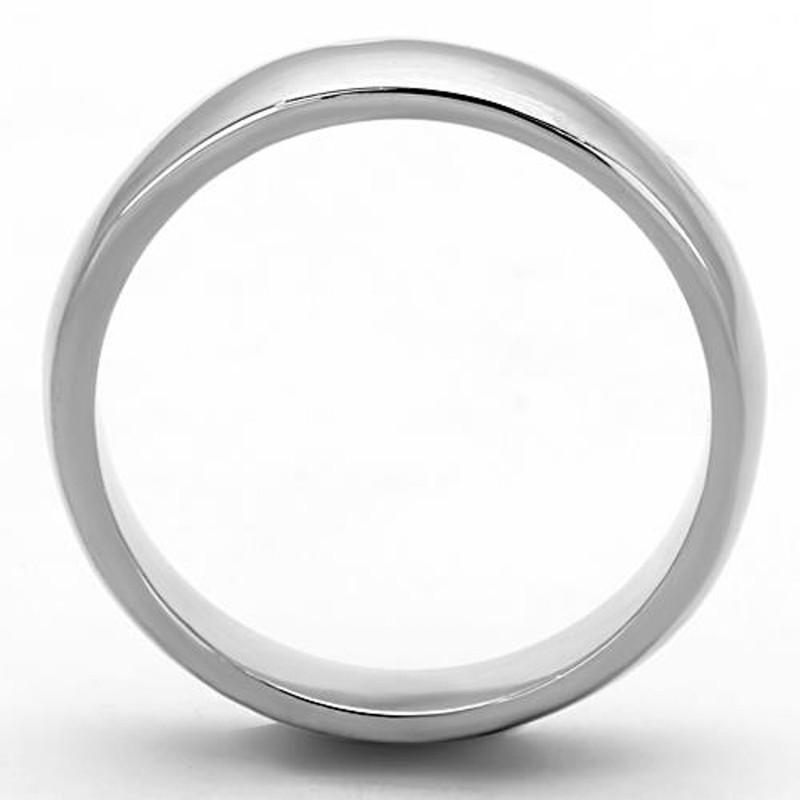 ARTK1375 Stainless Steel 316, 4.4mm Classic High Polished Unisex Wedding Band Sizes 5-13