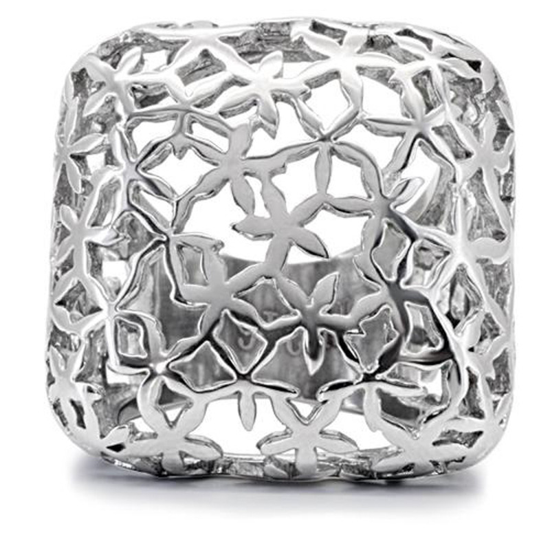 ARTK133 Stainless Steel 316 High Polished 25mm Wide Square Fashion Ring Women's Sz 5-10