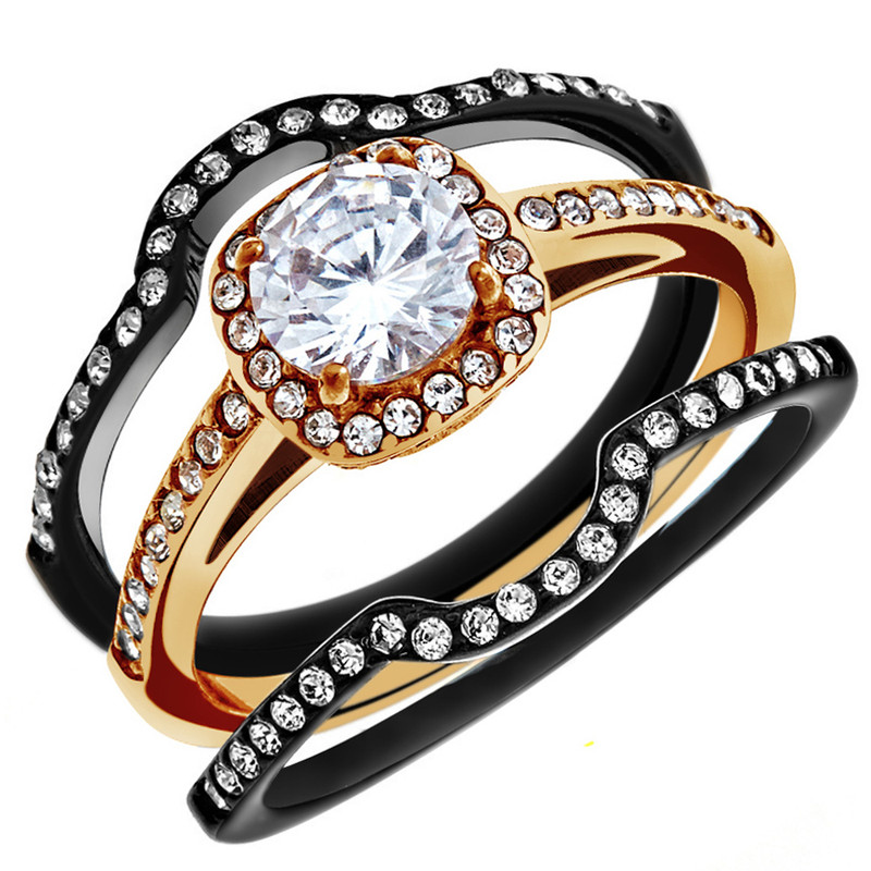 1.75 CT Halo Round Cut CZ Wedding Ring Set Women's Size 5-10