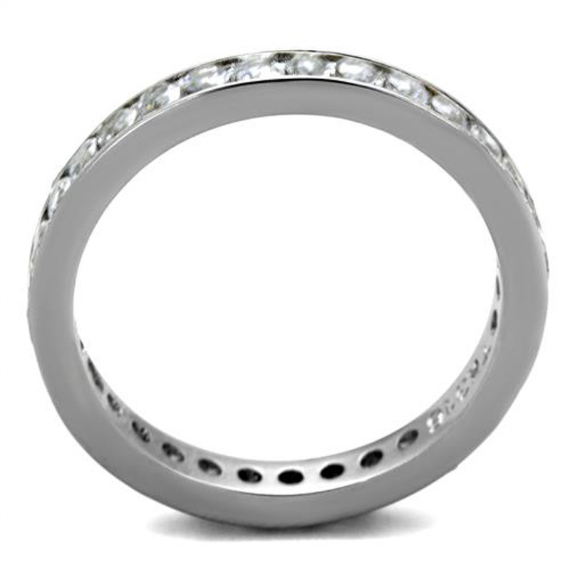ARTK2343 Women's Round Cut AAA Zirconia Eternity Anniversary Wedding Ring Band Size 5-10