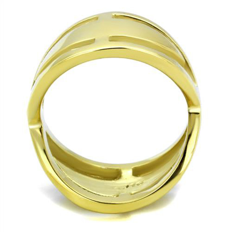 ARTK2157 Women's 14K Gold Ion Plated Stainless Steel 316 Cocktail Fashion Ring Size 5-10