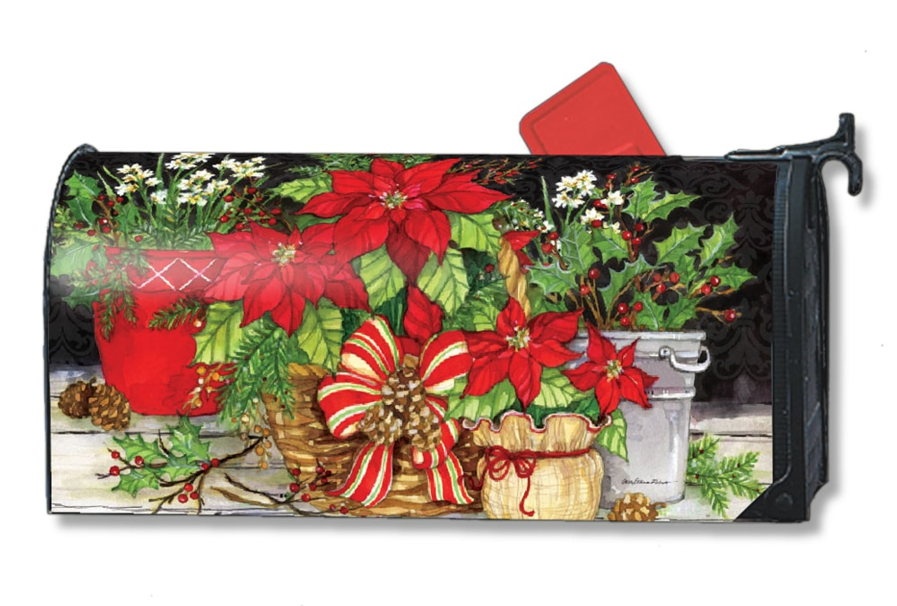Mailbox Christmas Decorations.Christmas Beauty Magnetic Mailbox Cover