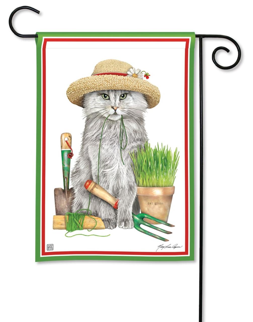 454f657bb Garden Kitty Garden Flag - Summer BreezeArt Flags