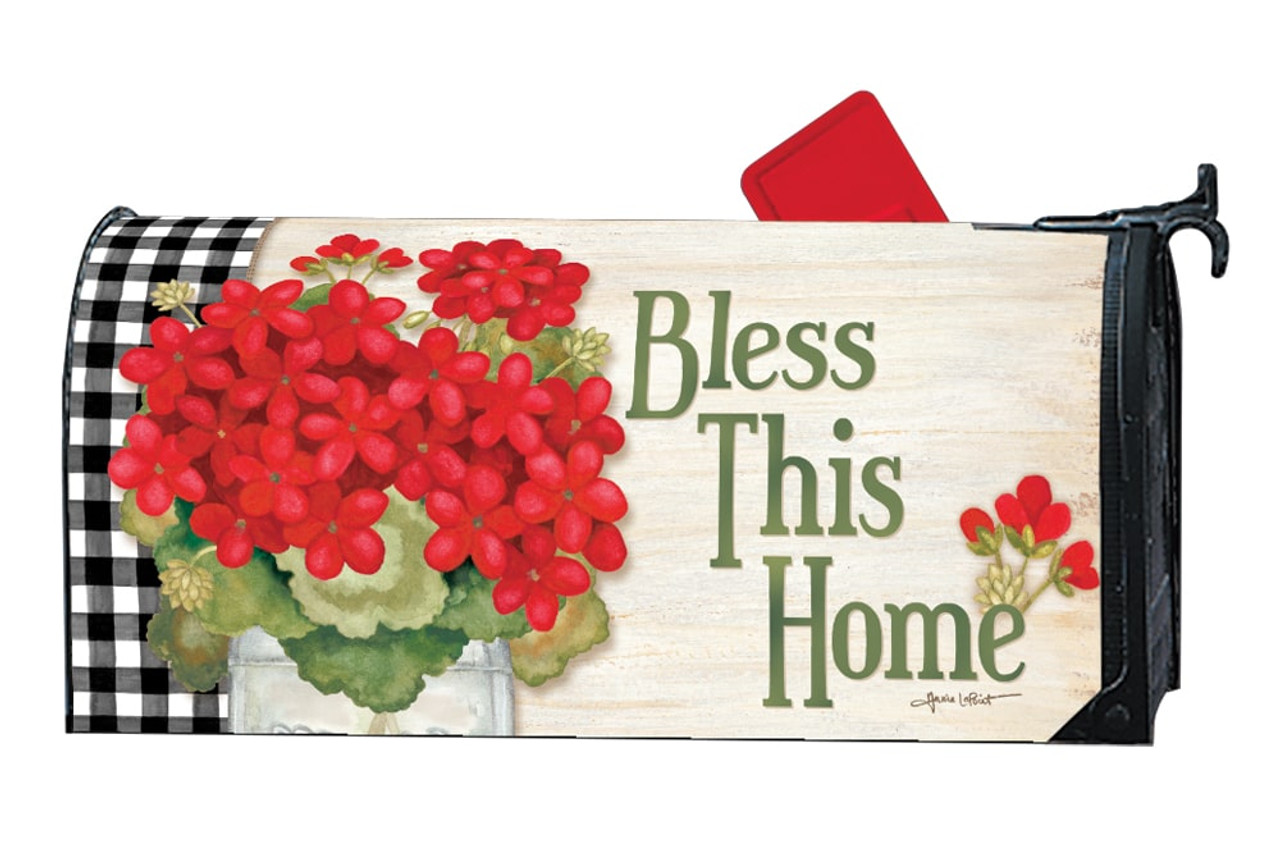 Geranium Blooms Magnetic Mailbox Cover By Mailwraps Mailbox Covers