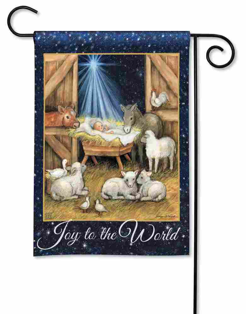 Joy To The World Garden Flag By Breezeart Flags 12 5 X 18