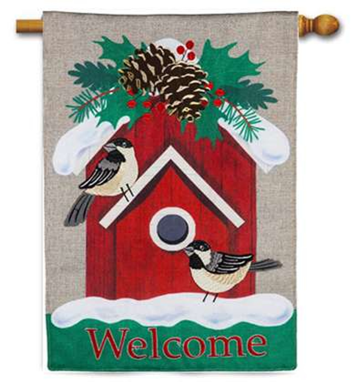 """Holiday Candy Canes Christmas Garden Flag Holiday Banner Evergreen 12.5/"""" x 18/"""""""