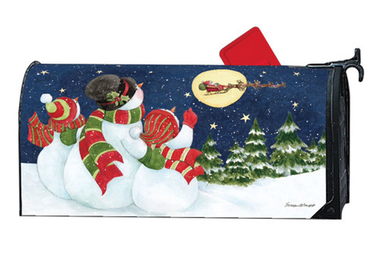 Santa Trackers Magnetic Mailbox Cover By Mailwraps Mailbox Covers