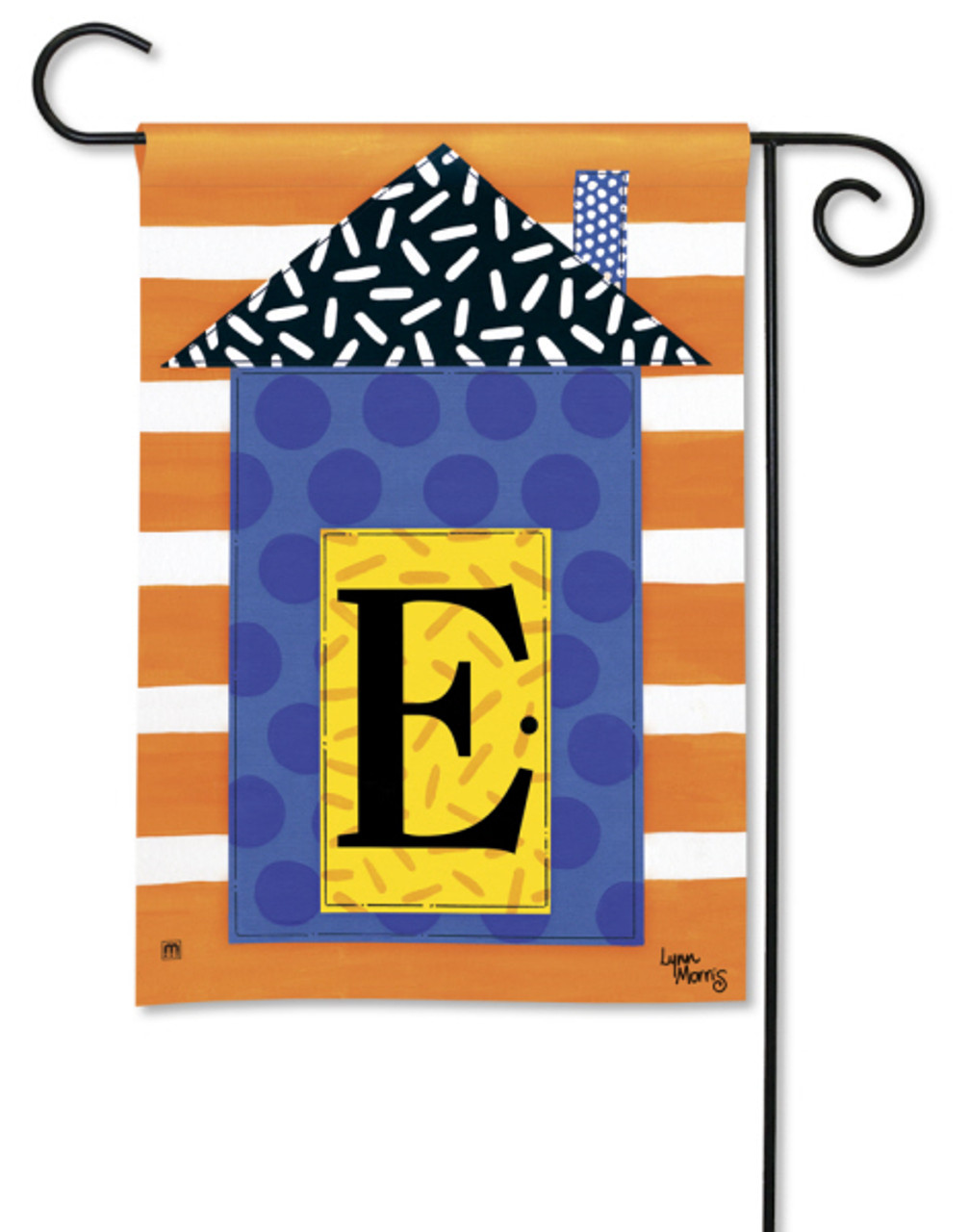 House Party Letter E Garden Flag By Breezeart Flags 12 5 X 18