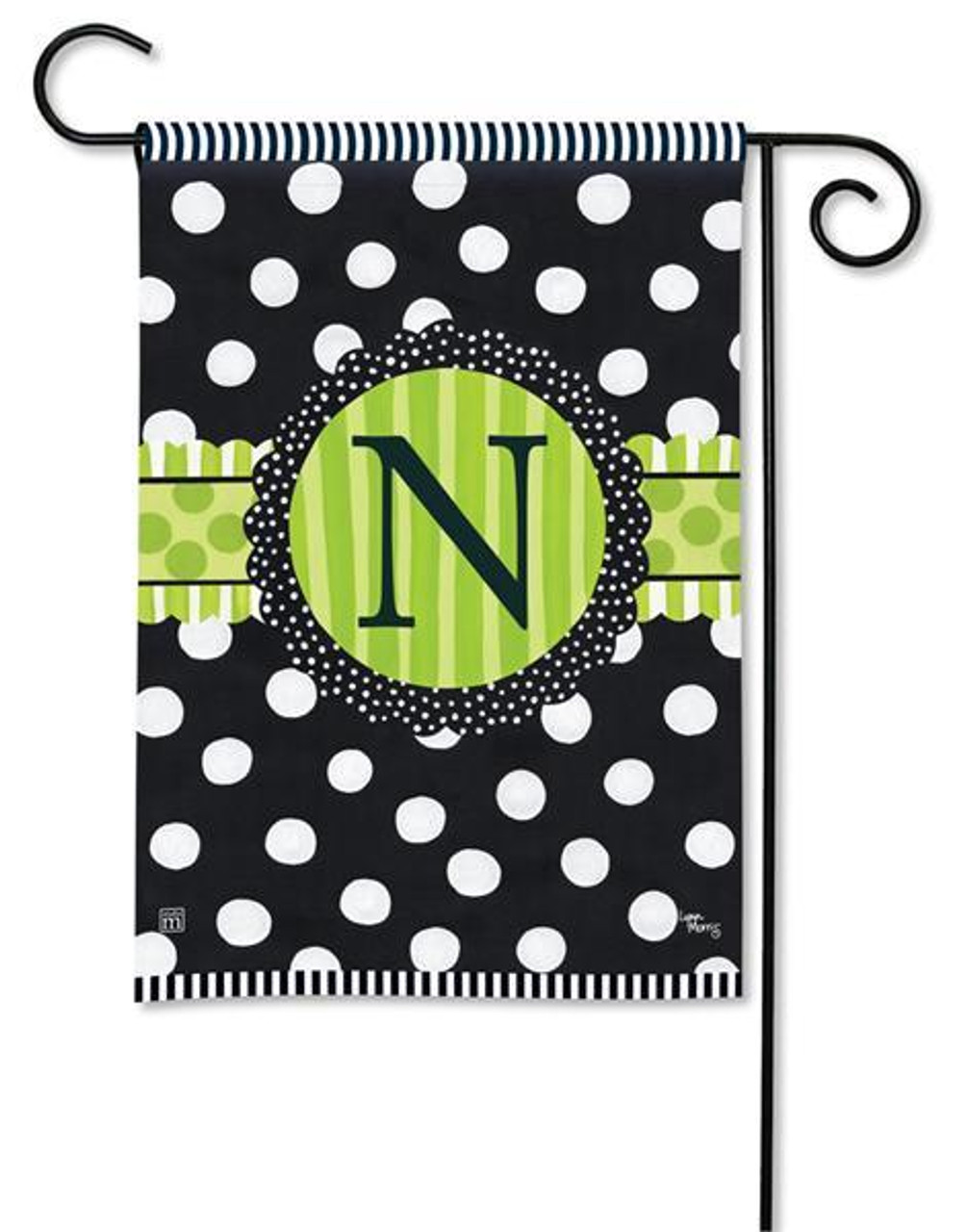 Frolic Letter N Garden Flag By Breezeart Flags 12 5 X 18