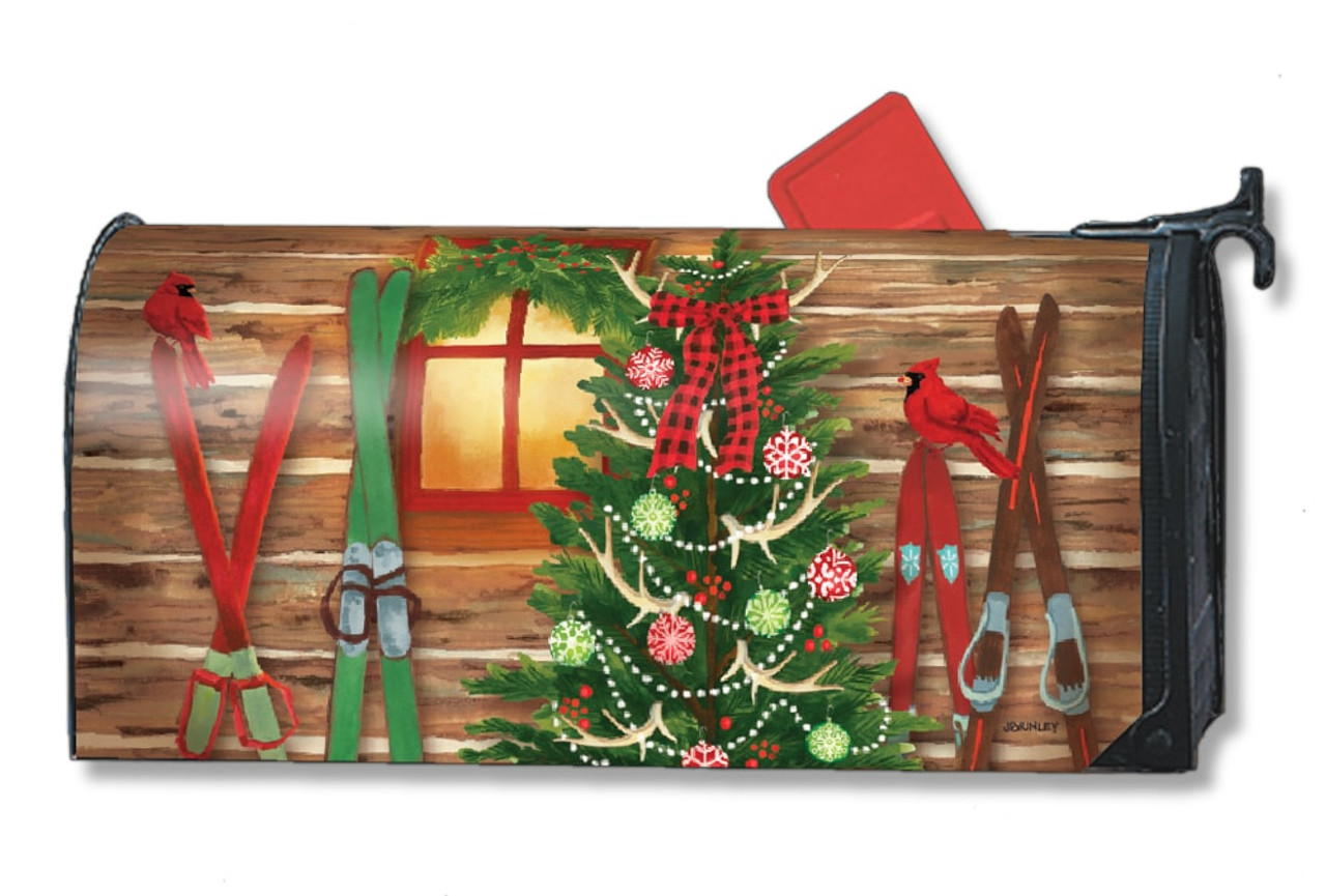 Christmas Mailbox Covers.Christmas At The Cabin Magnetic Mailbox Cover